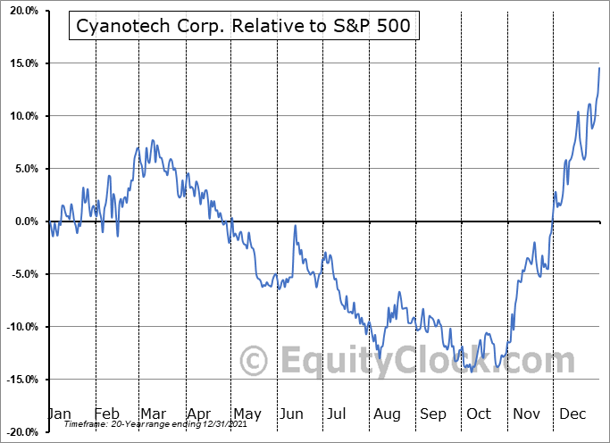 CYAN Relative to the S&P 500